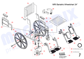 "MRI 24"" Wheelchair Parts"